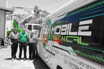 MOBILE ONSITE SERVICE VAN with staff